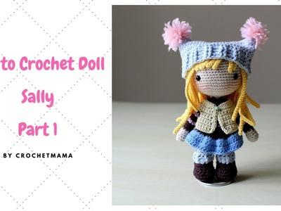 Crochet Amigurumi Doll Tutorial - Sally (Part 1.2)