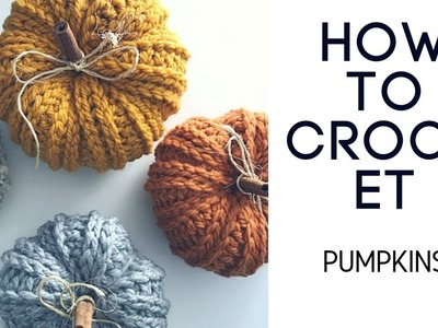 Crochet Rustic Farmhouse Pumpkin Tutorial