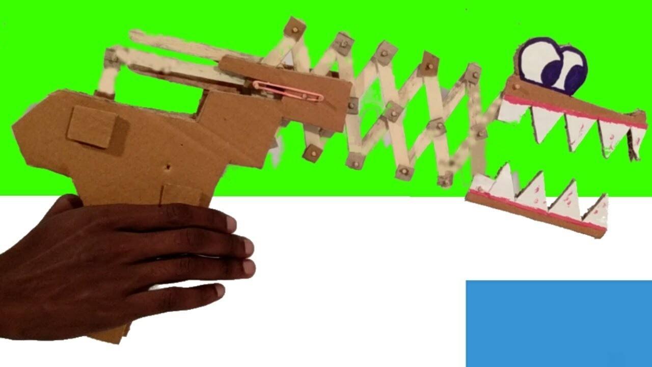 Crocodile gun | Pistola de crocodilo |  Pistola de papelao | cardboard gun |