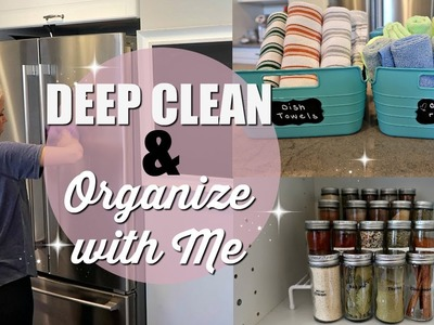 DEEP CLEAN & ORGANIZE WITH ME. CLEAN WITH ME 2018. EXTREME CLEANING MOTIVATION. KITCHEN