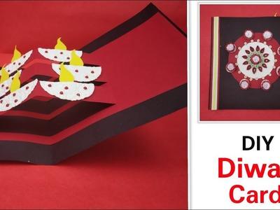 Diwali card making idea for Kids,DIY Diya Pop Up Card,Diwali Greeting cards latest design handmade