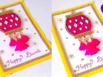 Diwali Special Greeting Card Latest designs handmade | Handmade cards for diwali