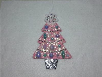 DIY~Beautiful Shabby Chic Christmas Tree Ornmanet W. Pattern!