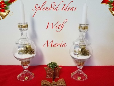 DIY Dollar Tree Christmas Candle Holders