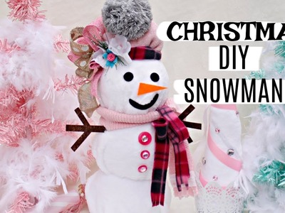 ????DIY DOLLAR TREE CHRISTMAS SNOWMAN & TREE ????