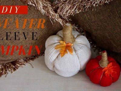 DIY Fall Room Decor | DIY Sweater Sleeve Pumpkin | 2018