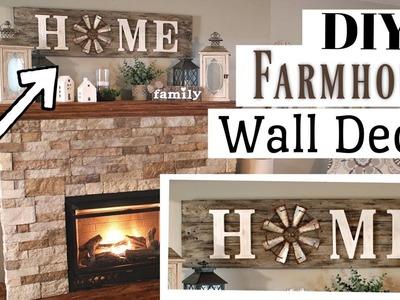 DIY Farmhouse Wall Decor Wood | Pallet Wood Farmhouse Sign | Krafts by Katelyn