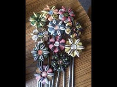 DIY flower from bottle caps(1)