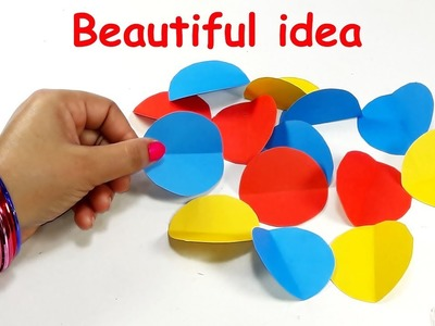 DIY paper crafts | Best craft idea | DIY arts and crafts | Cool idea with color paper