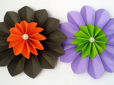 DIY: Paper Flower!!! How to Make Beautiful Paper Flower. Rosettes For Wall Decoration!!!