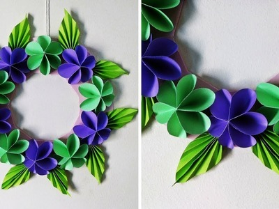 DIY Paper Flower Wall Hanging | Simple Home Decor | Wall and Door Decoration Ideas