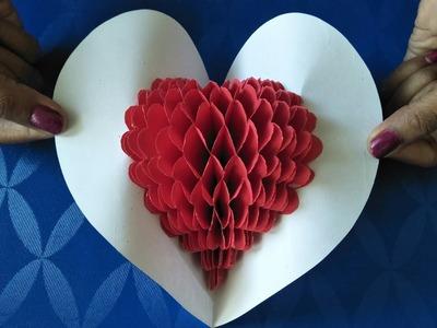 DIY   Pop-up heart ♥ Greeting Card   Love card   Festival Greeting Card   Beautiful Greeting Card