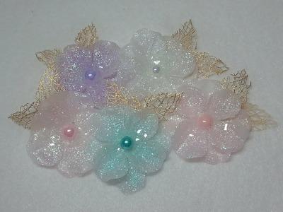 DIY~Sparkling Translucent Sugar Blossom Flowers Made From D.T. Materials!