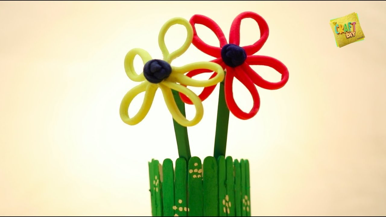 DIY Video I Best out of waste - Flower with Hair Rubberband in Hindi I पुराने रब्बर बैंड का फूल