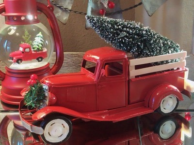 DIY Vintage Red Truck | Christmas Red Truck Theme Decor | Vintage Toy Truck Transformation