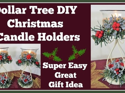 Dollar Tree DIY ???? Christmas Candle Holders ???? Great Gift Idea