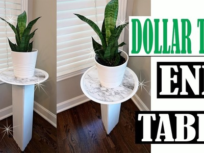 DOLLAR TREE DIY END TABLE - PLANT STAND ROOM DECOR