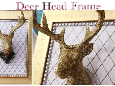 Dollar Tree DIY Glam 3-D Deer Head Frame - Easy (Part 3 Craft Fair Ideas)