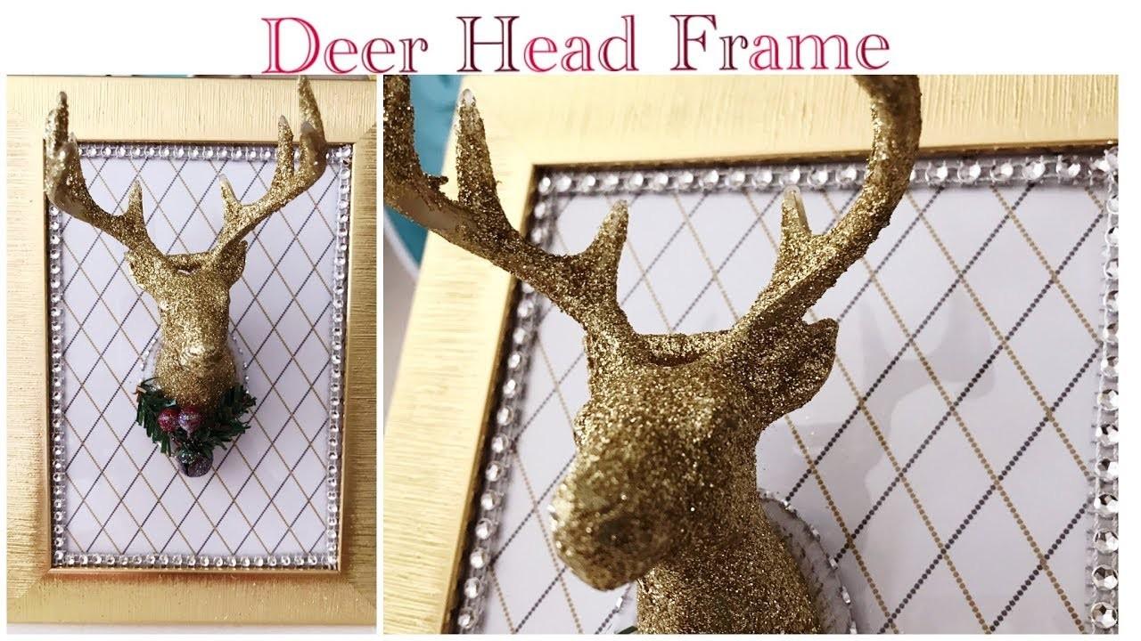 Dollar Tree DIY Glam 3-D Deer Head Frame - Easy (Part 3 Craft Fair Ideas)