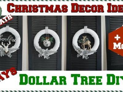 DOLLAR TREE DIY WINTER WONDERLAND CHRISTMAS DECOR IDEAS | 6 DIY WREATH IDEAS | Momma From Scratch