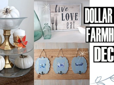 DOLLAR TREE FARMHOUSE DECOR DIY -  FALL DECOR 2018