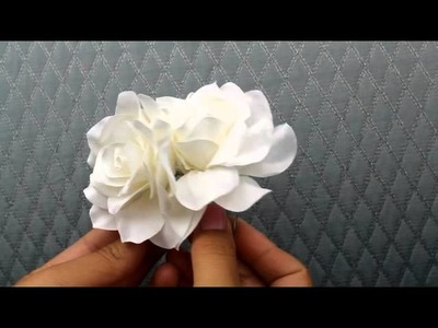 Double Gardenia Hair Flower  from Hair Comes the Bride