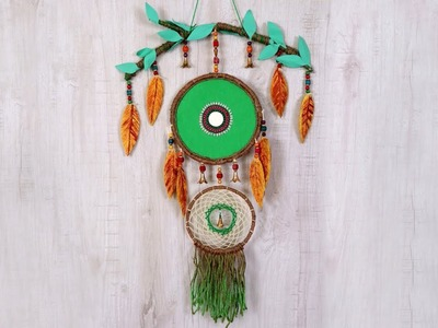 Dream Catcher Wall Hanging Decorative Showpiece   How to Make Dream Catcher at Home   DIY Pattern