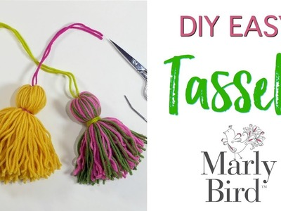 Easy DIY Tassels for Knitting Crochet and Crafts