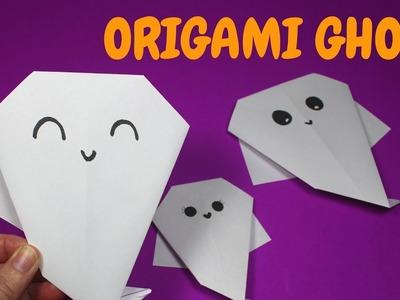 Easy Origami Ghost | Halloween Crafts for Preschoolers