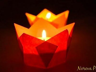 Easy Paper Candle Holder #christmashomedecorationideas | DIY Lamp Holder for Christmas
