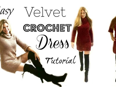 Easy Red Velvet Dress Crochet Tutorial