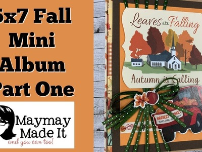 Fall Break Envelope Mini Album Part One Binding and Flaps