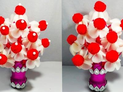 GULDASTA.DIY.NEW DESIGN FOAM GULDASTA.WOOLEN GULDSTA.WASTE PLASTIC BOTTLE.FLOWERPOT.VASE.FOAM FLOWER
