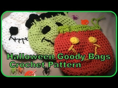 Halloween Goody Bags Crochet Pattern