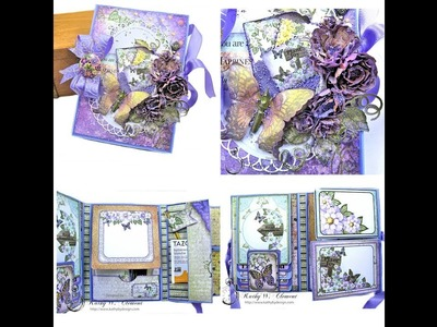 Heartfelt Creations Butterfly Medley Tri Fold Folio by Kathy Clement