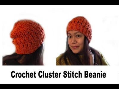 How to Crochet Cluster Stitch Beanie
