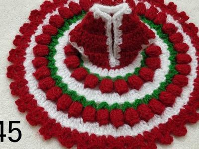 How to Crochet Flower Dress for Laddu Gopal. Kanhaji #45 (Diwali Special) all sizes