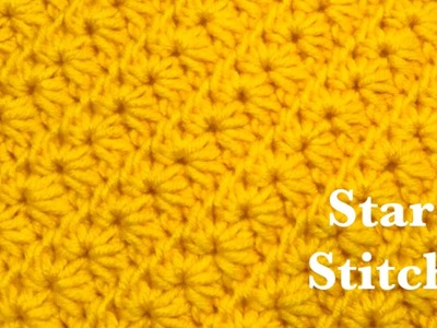 How to crochet the star stitch - easy and fast crochet stitch for hats, blankets and more #159