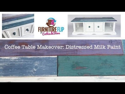 How to Faux Shiplap: Chalk & Milk Paint Furniture Makeover!