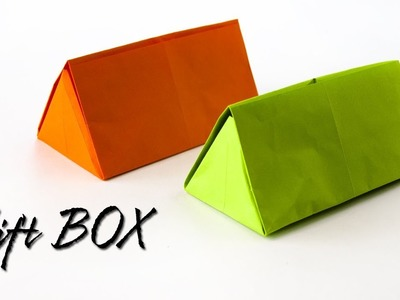 How to make a Gift Box | Triangular box