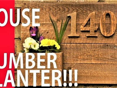 How to Make a House Number Planter - Wooden Numbers