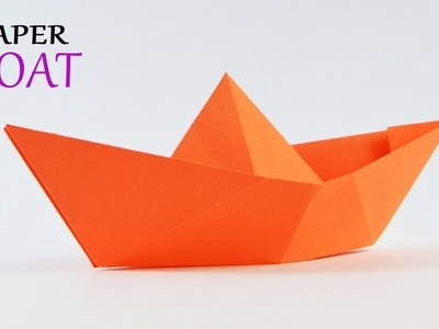 How To Make A Paper Boat - Origami Paper Boat | Easy Paper Crafts | Paper girl