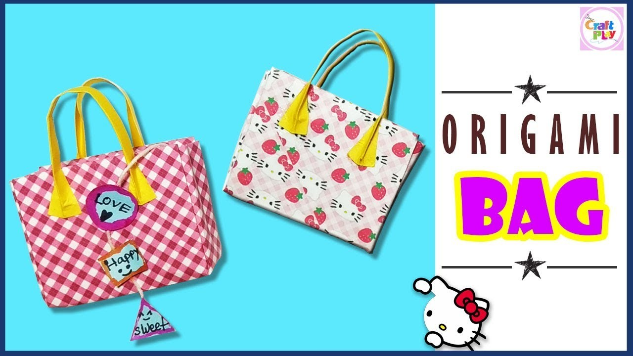 how to make an origami baggift bagdiy hello kitty paper