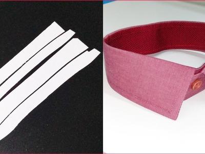 How to make double fusing shirt collar डबल फ्यूजिंग कॉलर कैसे बनाएं