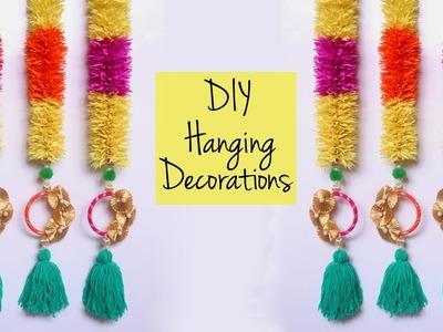 How To Make Hanging Decoration | DIY Diwali Decoration | Crepe Paper Garland Home Decor