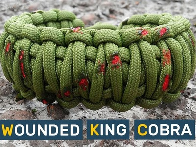 How to make Paracord Bracelet Wounded King Cobra
