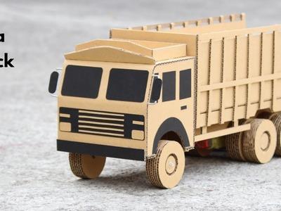How To Make RC Tata Truck From Cardboard || Tata 6 Wheeler Truck || Very Simple DIY