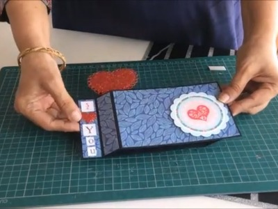How to make scrapbook cards.scrapbook card tutorials.DIY card for scrapbook.Heart pop up card.