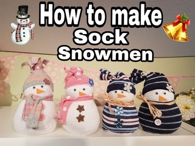 How to Make Sock Snowman - Christmas Crafts & Gifts 2018