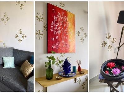 Indian living room makeover in budget || Diwali Decoration 2018
